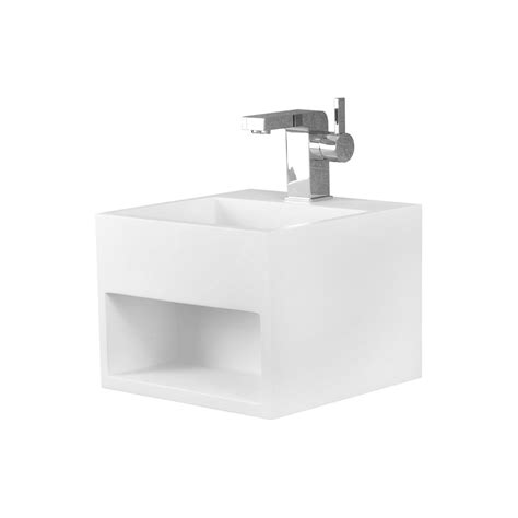 dax solid surface square single bowl bathroom sink cabinet