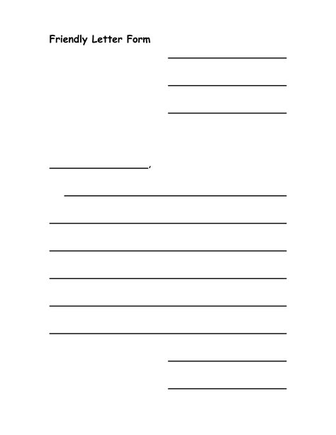 7 best images of printable friendly letter format blank