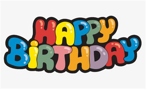 happy birthday birthday clipart letter english png