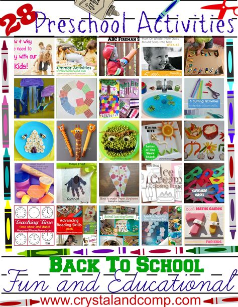 28 and educational preschool activities for back to 954 | preschool activities
