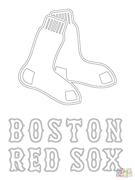 Boston Red Sox Logo Coloring Page Free Printable