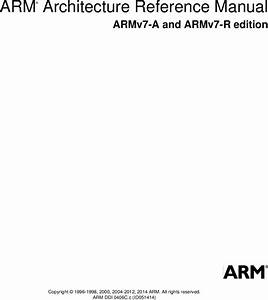 Arm Architecture Reference Manual Armv7 A And R Edition