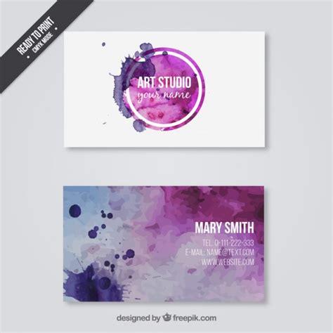 business card  art studio  vector
