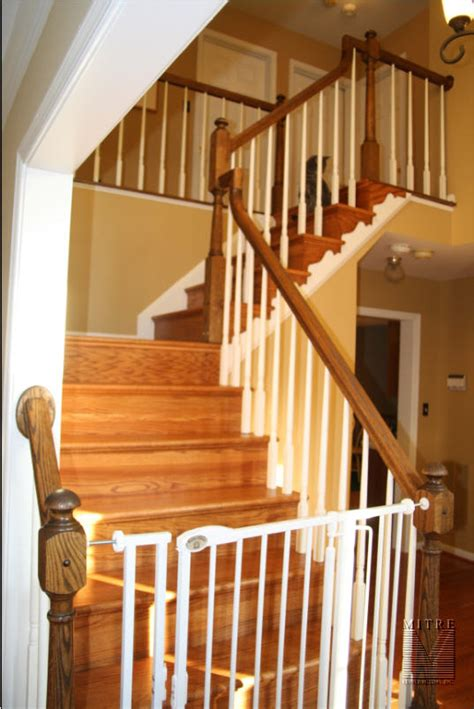 stair railings newel posts balusters mitre