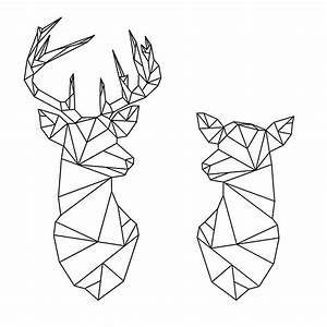 """""""Geometric Stag and Doe"""" Stickers by literarydreamrs"""