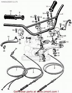 Honda Cl175 Scrambler 1968 K0 Usa Handlebar Cl175
