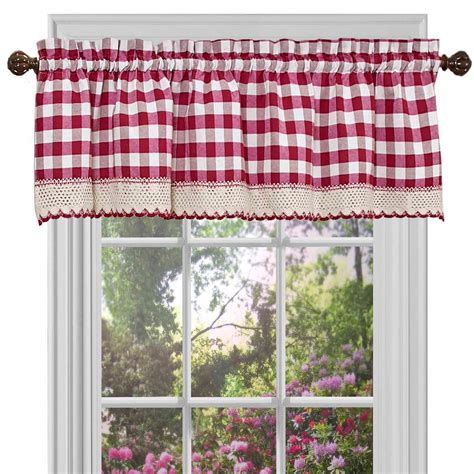 red kitchen curtains and valances iron king beds house