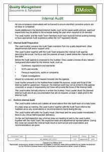 internal audit With internal audit procedure template