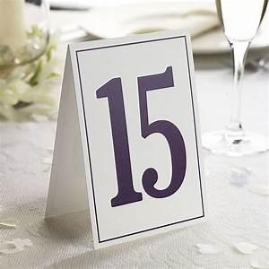 Elegant Border Wedding Table Numbers 1-15 - Confetti.co.uk