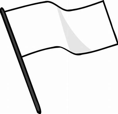 Flag Clip Waving Clipart Surrender Svg Vector