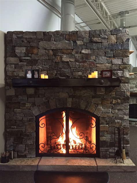 Rustic Fireplace Designs  Mason Lite By Masonry Fireplace