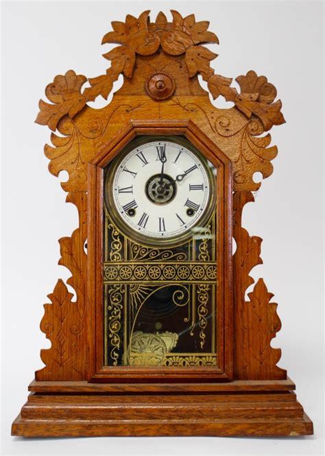 antique  ingraham oak case kitchen clock