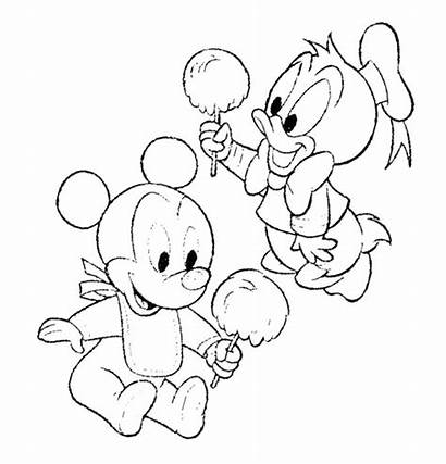 Mickey Mouse Coloring Candy Cotton Pages Minnie
