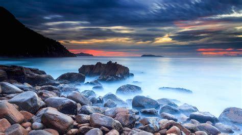 wallpaper rocks zenith beach nelson bay  nature