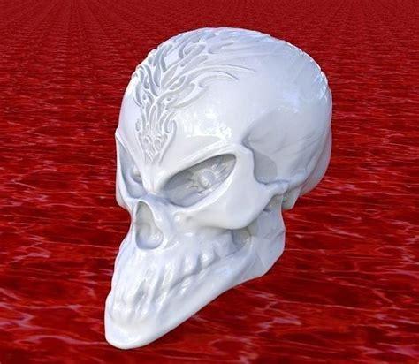 alien skull  dragon tatoo  print model cgtrader