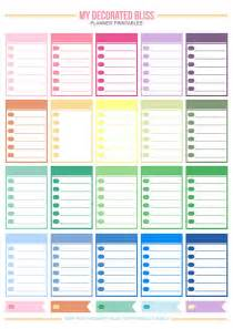 Happy Free Planner Printables
