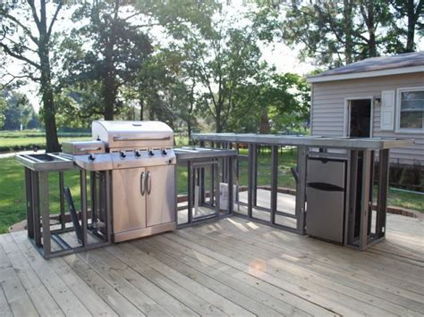how to build an outdoor kitchen with metal studs strong and durable metal frame outdoor kitchen bistrodre