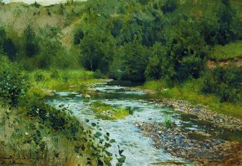 A river - Isaac Levitan - WikiArt.org - encyclopedia of ...