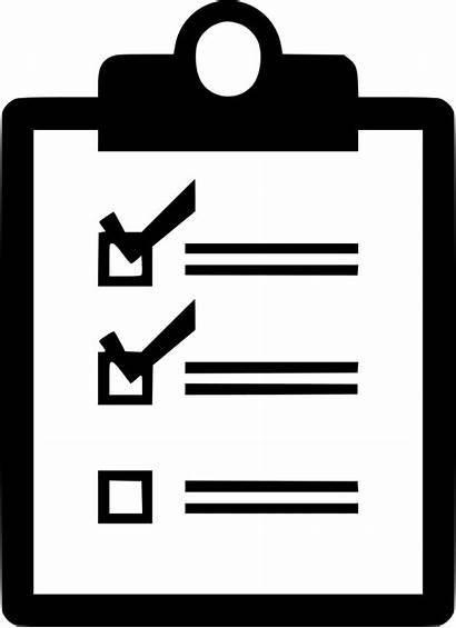 Icon Checklist Check Clipart Clipboard Verification Symbol
