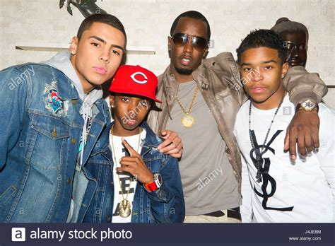 Quincy Brown Christian Combs Diddy And Justin Combs On