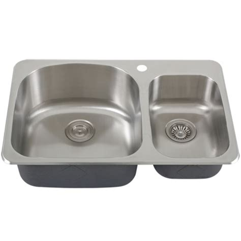 Overmount Stainless Steel Sink by Ticor S997 Overmount 18 Stainless Steel Bowl