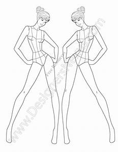 701 best fashion croquis poses images on pinterest With fashion sketchbook with templates