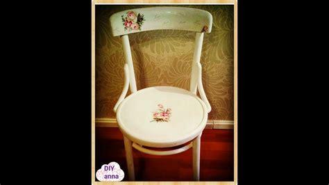 decoupage chair  scratches  roses napkin ideas diy
