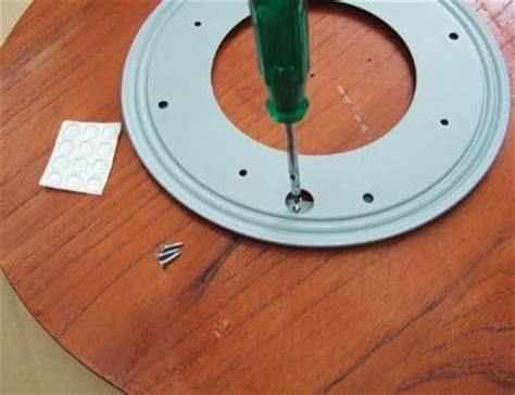 half moon glide polymer build lazy susan bearing woodworking projects plans