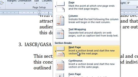 Insert Or Delete A Section Break In Ms Word