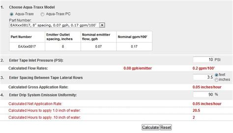 drip irrigation cost estimate irrigation drip tape calculator driptips by toro micro irrigation