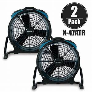 X 3 Hp Sealed Motor Industrial Axial Air Movers
