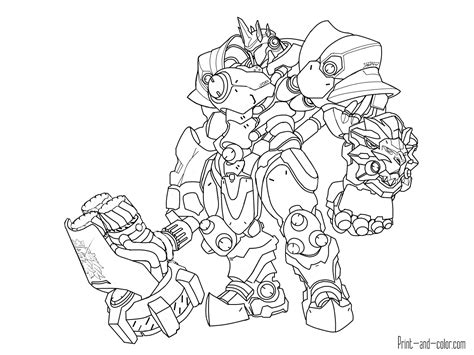 Kleurplaat Overwatch Doomfist by Overwatch Coloring Pages Coloring Pages