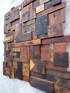 Mur En Bois Intérieur Decoratif : deco murale bois ~ Teatrodelosmanantiales.com Idées de Décoration