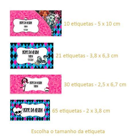 kit etiqueta escolar high frete gr 225 tis r 15 00 em mercado livre
