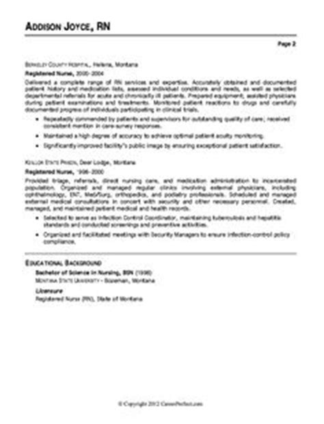er resume exle resume exles resume and nurses