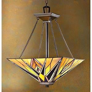 Quoizel? falcon tiffany style ceiling pendant lamp