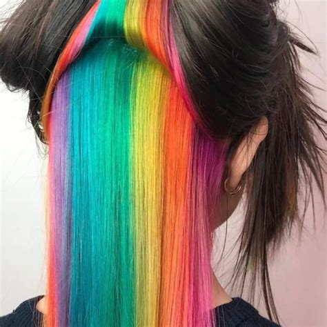 cool rainbow hair color ideas  rock  summer