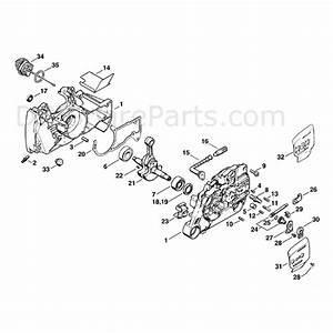 Stihl Ms 440 Chainsaw  Ms440 W  Parts Diagram  Crankcase