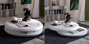Table De Salon Ronde : table basse ronde moderne cuisine naturelle ~ Teatrodelosmanantiales.com Idées de Décoration