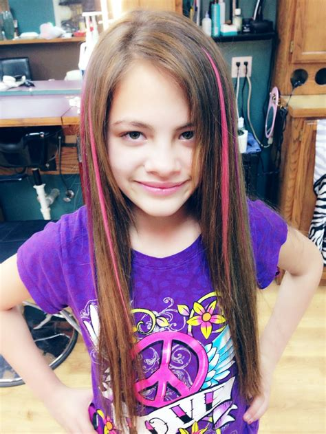 Kid Hair Colored Extensions Glued In Salon Beauty Ideas