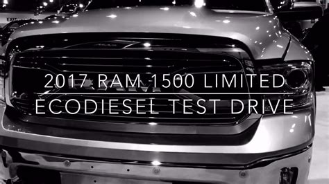 ram  limited ecodiesel test drive youtube