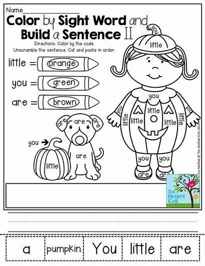 Sight Word Sentence Words Kindergarten Write Build
