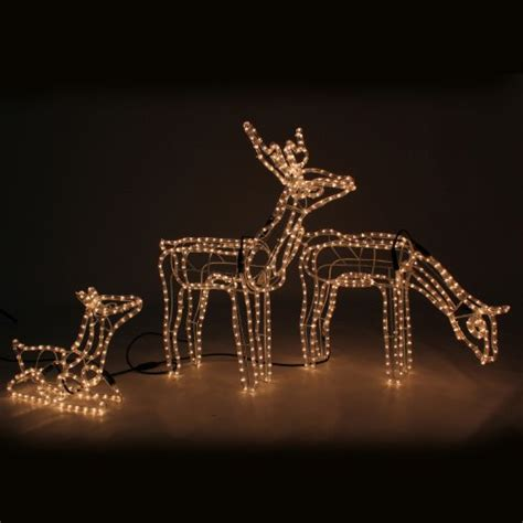 werchristmas pre lit large animated reindeer family stag