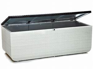Coffre De Rangement Blanc : coffre de rangement prahia coloris blanc chocolat 52366 ~ Nature-et-papiers.com Idées de Décoration