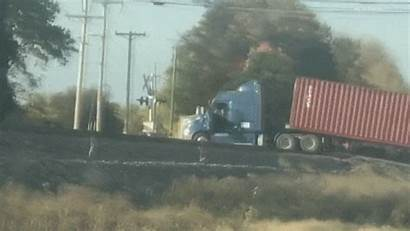 Train Semi Truck Freight Destroy Indiana Hits