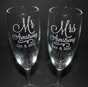 Personalized wedding toasting glasses custom engraved for Etched glass wedding gifts