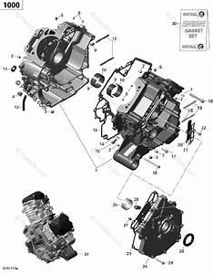 Can-am Atv 2017 Oem Parts Diagram For Crankcase