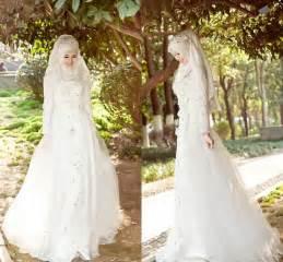 muslim bridesmaid dresses aliexpress buy arabic muslim wedding dresses 2015 weddings events beaded sleeves a