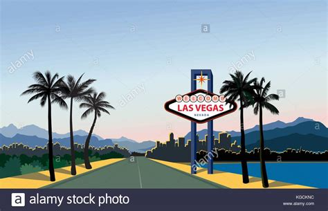 las vegas city skyline silhouette stock photos las vegas