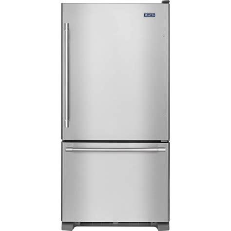 cu ft bottom freezer refrigerator stainless steel